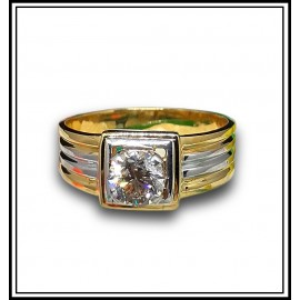 Astrological Diamond Gold Ring