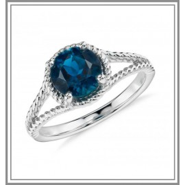 London Blue Topaz Gemstone Ring