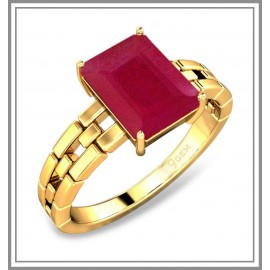 Ruby Studded in 18 k Yellow Gold
