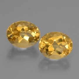 5.1ct Yellow Golden Citrine Gems from Brazil Natural and Untreated