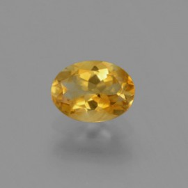 Gold Citrine 1.1 Carat Oval from Brazil Natural and Untreated Gemstone